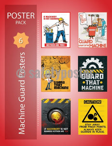 Safety Posters Pack - Machine Guards - safetyposter.com