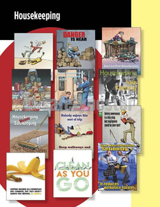Safety Posters Pack - Housekeeping Poster Packs