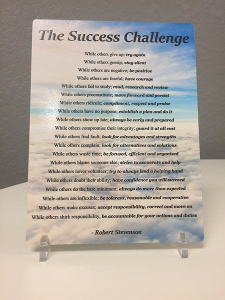 Robert Stevensons The Success Challenge - Desktop Sign Signs