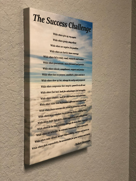 Robert Stevenson's Complete Success Challenge (Clouds) - Visual Edge Sign