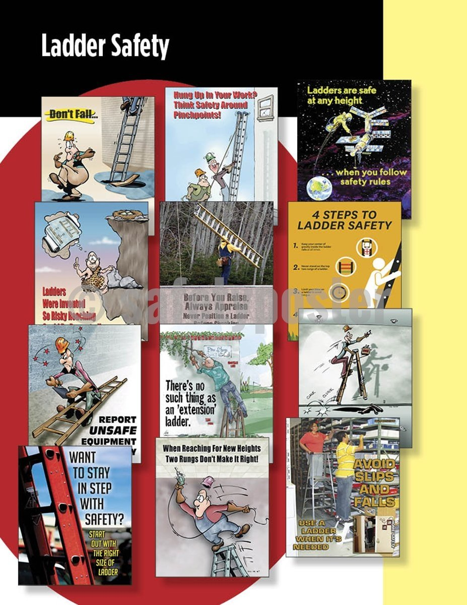 Safety Posters Pack - Ladder Poster Packs