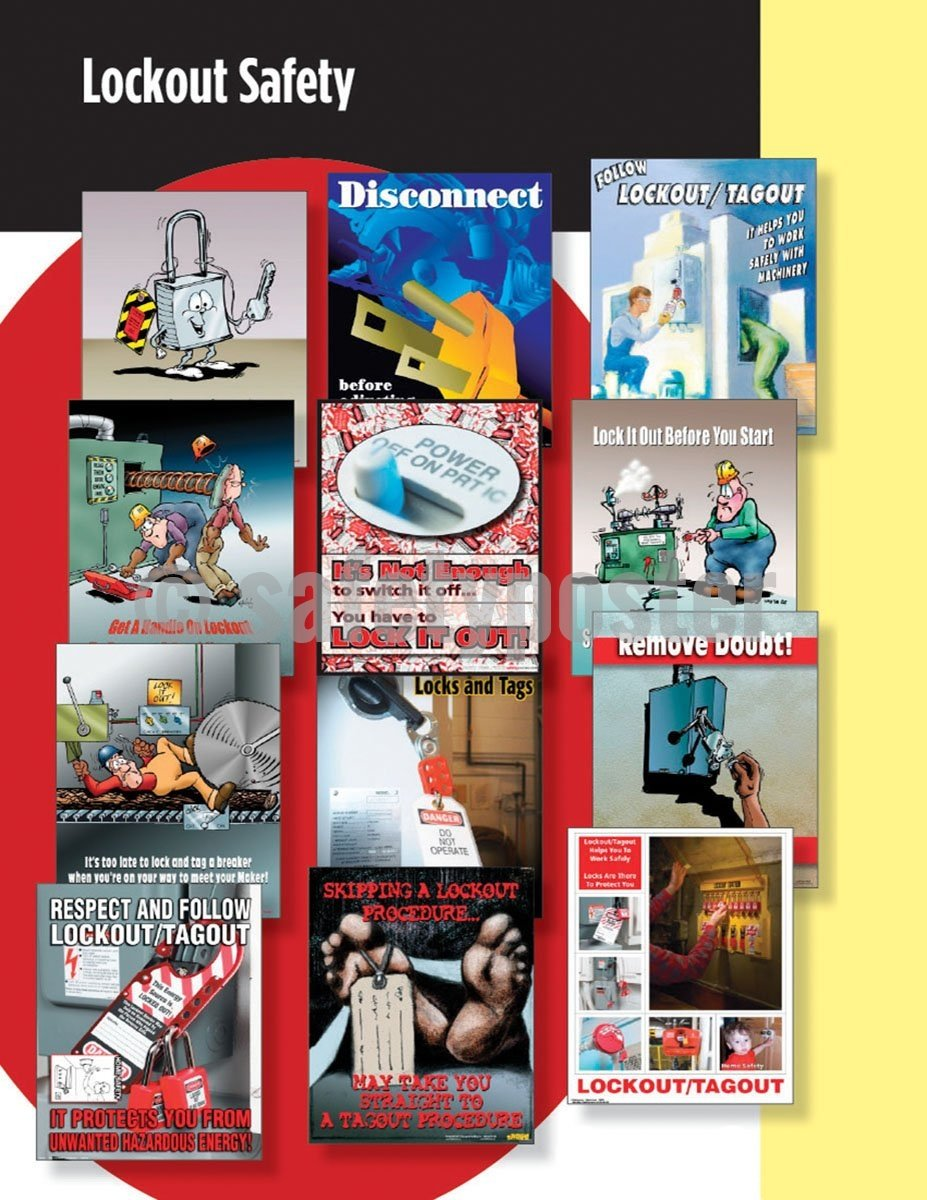 Safety Posters Pack - Lockout Tagout Poster Packs