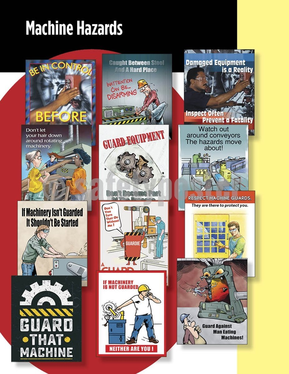 Safety Posters Pack - Machine Hazards Poster Packs
