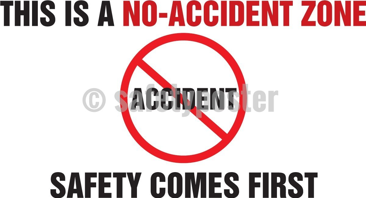 This Is A No Accident Zone Safety Comes First - Banner 48 X 28 Motivational Banners