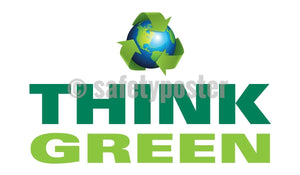 Think Green (Earth) - Safety Banner Motivational Banners