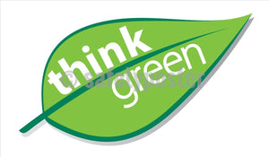 Think Green (Leaf) - Safety Banner Motivational Banners