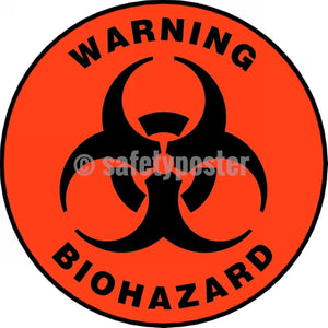 Warning Biohazard - Floor Sign Adhesive Signs