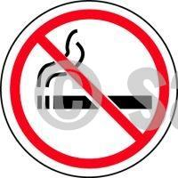 No Smoking Symbol - Floor Sign Adhesive Signs