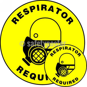 Respirator Required - Floor Sign Adhesive Signs