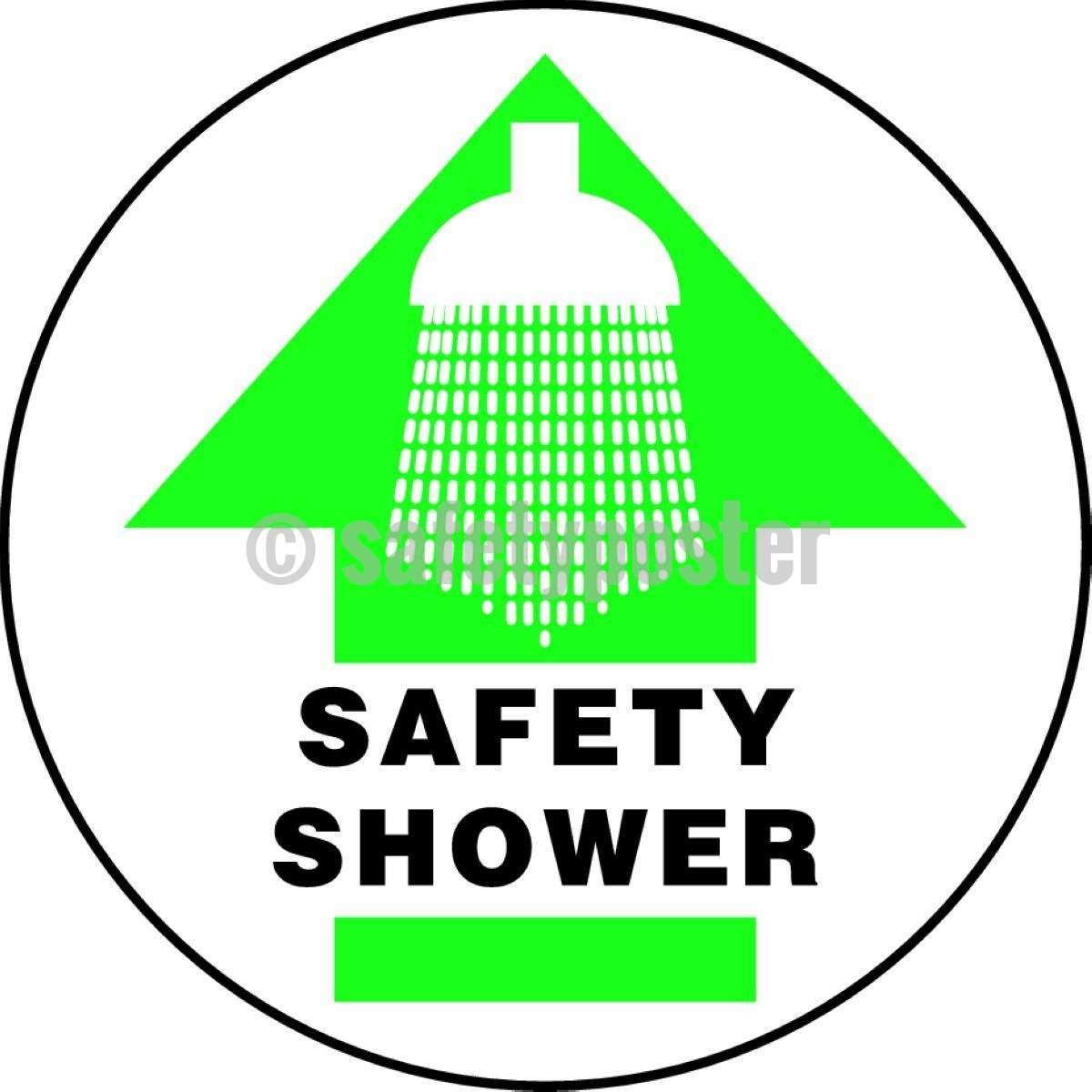 Safety Shower - Floor Sign Adhesive Signs