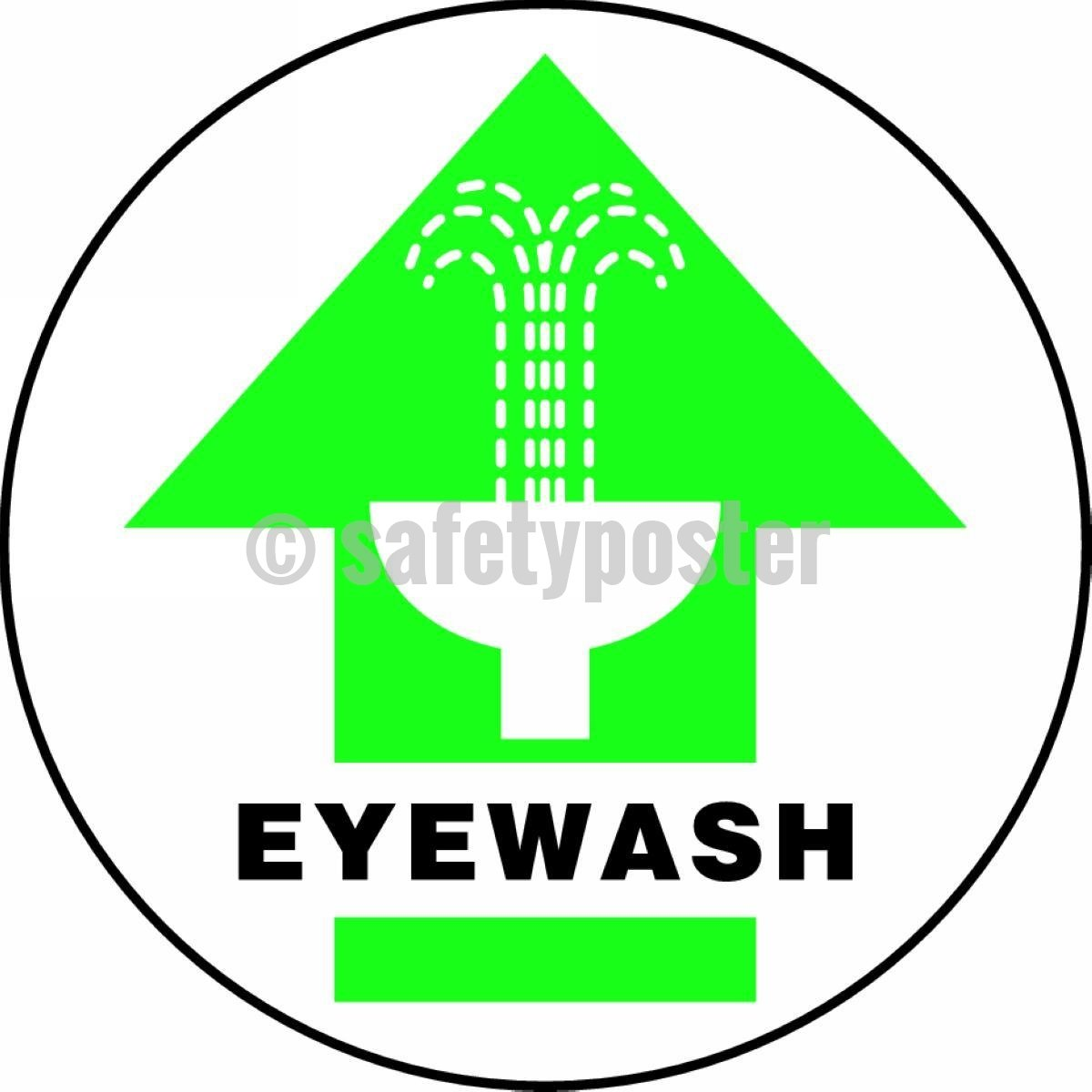 Eyewash - Floor Sign Adhesive Signs