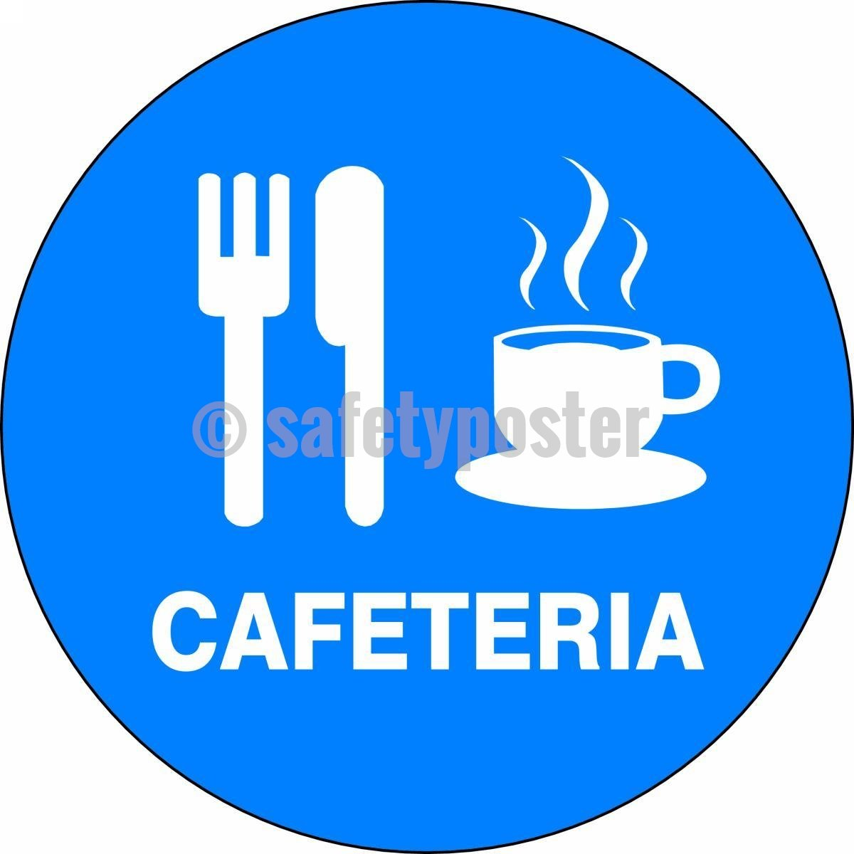 Cafeteria - Floor Sign Adhesive Signs