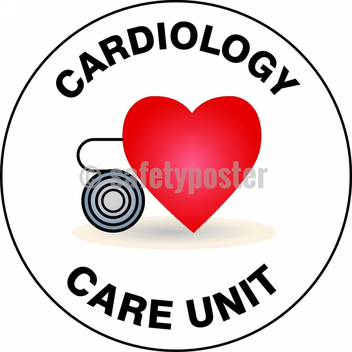Cardiology Care Unit - Floor Sign Adhesive Signs