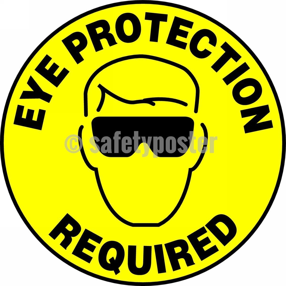 Eye Protection Required - Floor Sign Adhesive Signs
