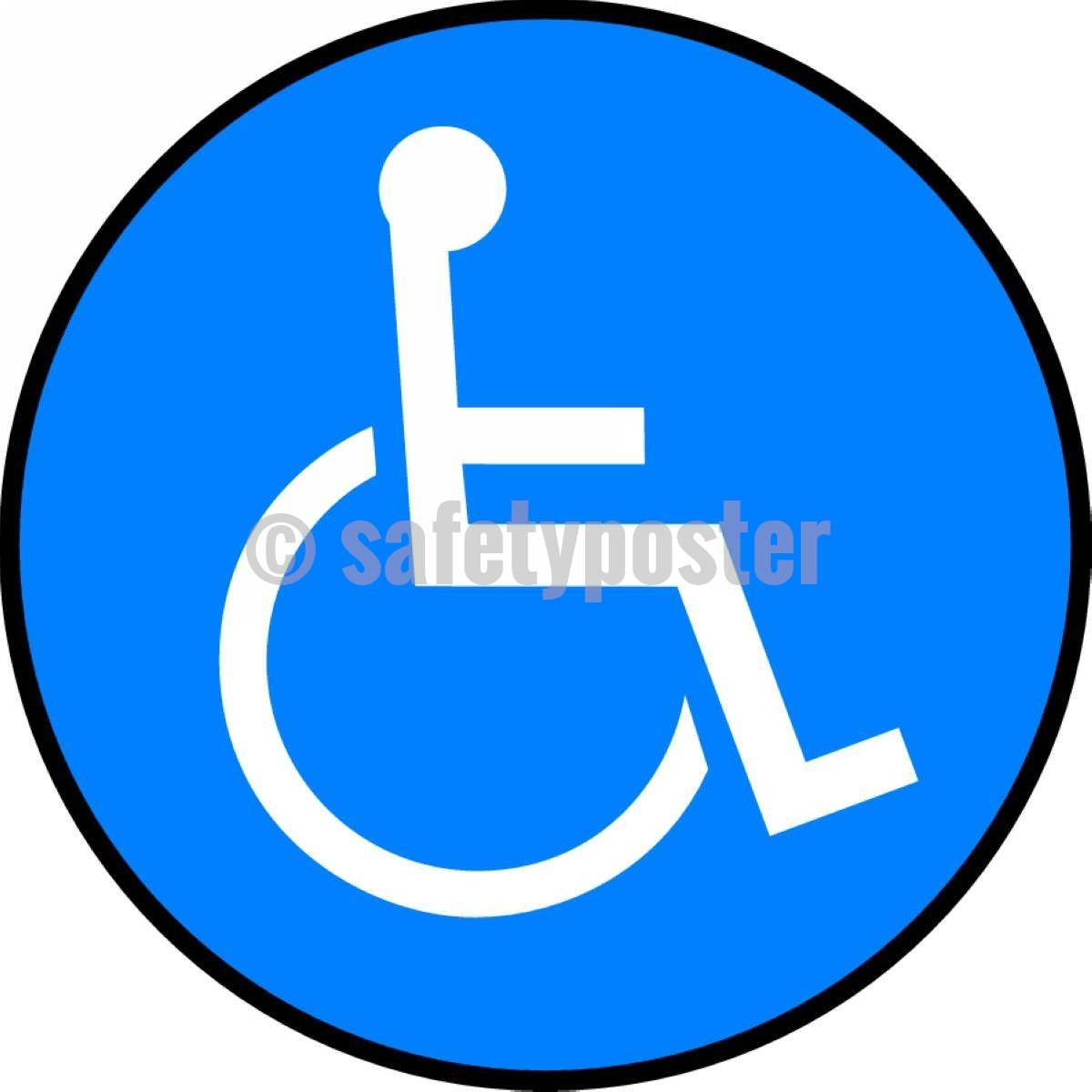 Handicapped Symbol - Floor Sign Adhesive Signs