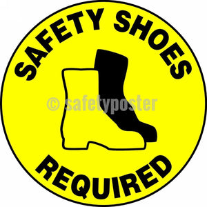 Safety Shoes Required - Floor Sign Adhesive Signs