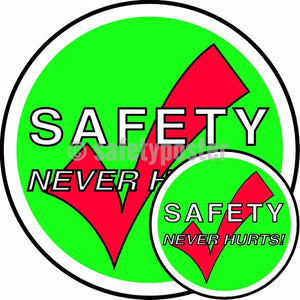 Safety Never Hurts - Floor Sign Adhesive Signs