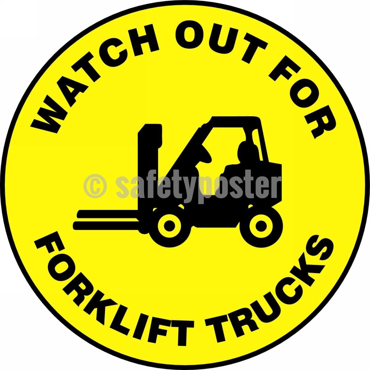Watch Out For Forklift Trucks - Floor Sign Adhesive Signs