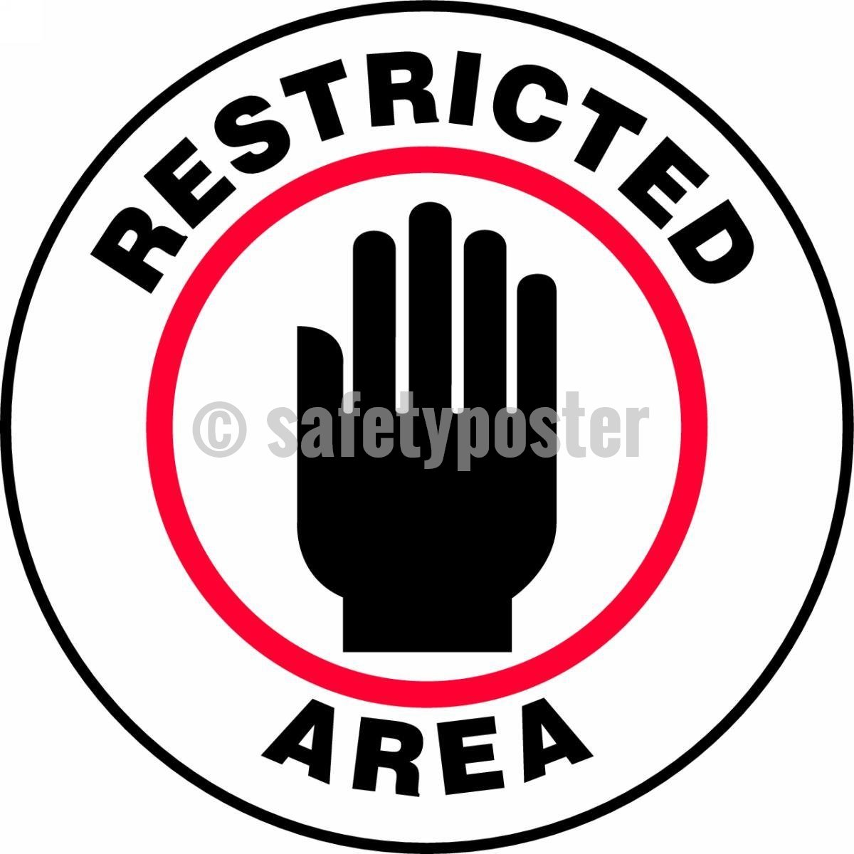 Restricted Area - Floor Sign Adhesive Signs