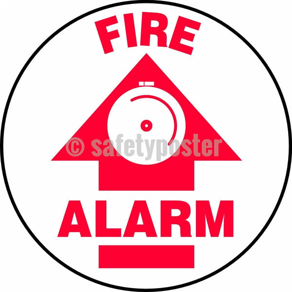 Fire Alarm - Floor Sign Adhesive Signs