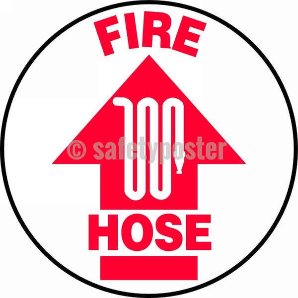 Fire Hose - Floor Sign Adhesive Signs