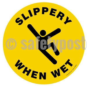 Slippery When Wet - Floor Sign Adhesive Signs