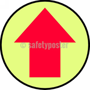 Arrow Symbol - Glow Floor Sign Adhesive Signs