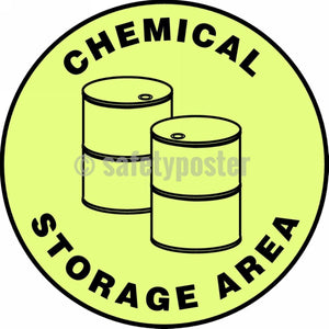 Chemical Storage Area - Glow Floor Sign Adhesive Signs