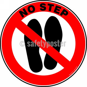 No Step - Floor Sign Adhesive Signs