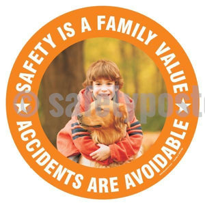 Safety Is A Family Value Accidents Are Avoidable - Floor Sign Adhesive Signs