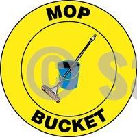Mop Bucket - Floor Sign Adhesive Signs