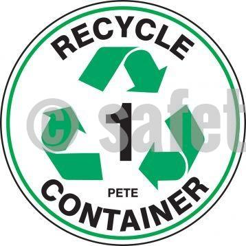 Recycle Container Pete - Floor Sign Adhesive Signs