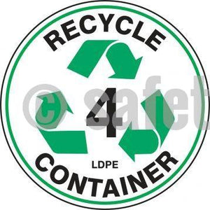 Recycle Container Ldpe - Floor Sign Adhesive Signs