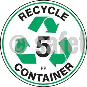 Recycle Container Pp - Floor Sign Adhesive Signs