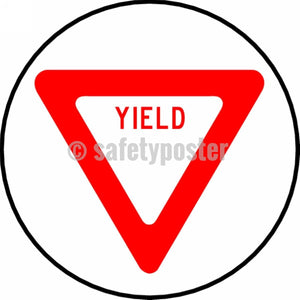 Yield - Floor Sign Adhesive Signs
