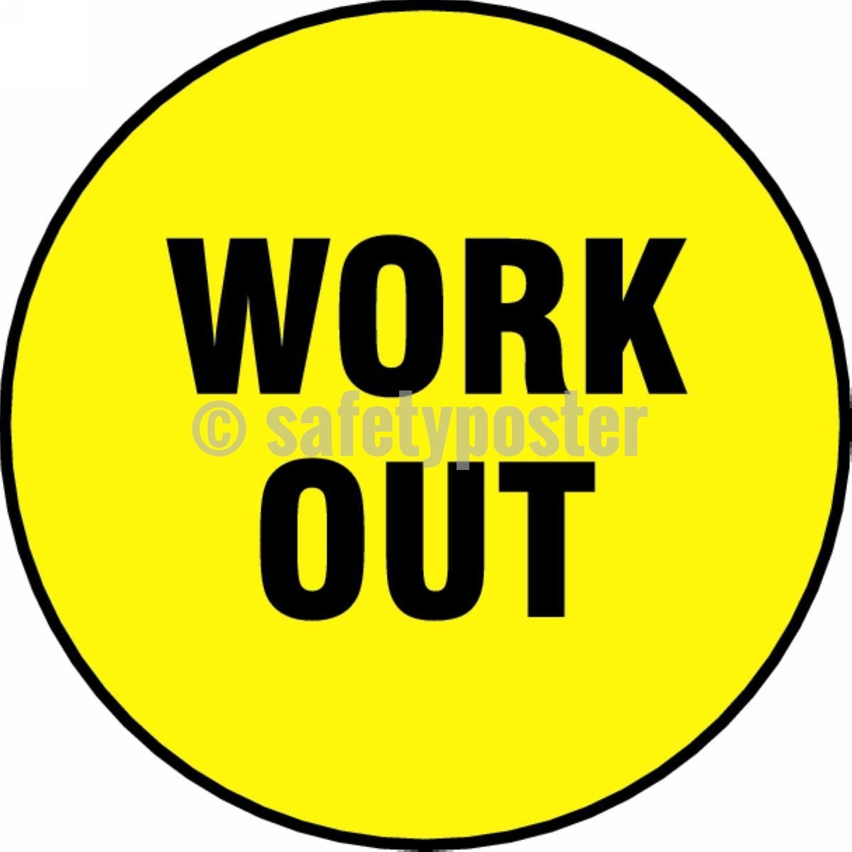 Work Out - Floor Sign Adhesive Signs