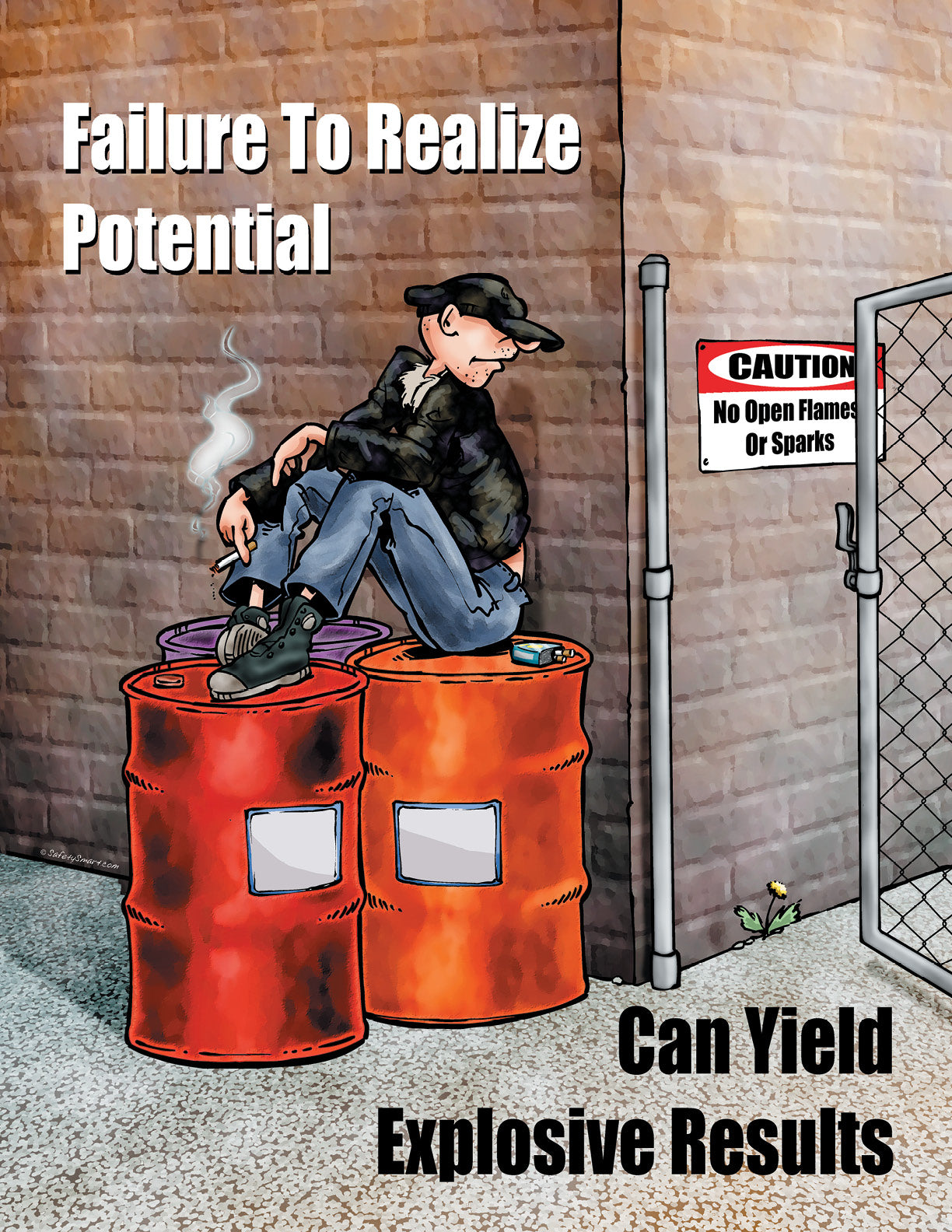Failure To Realize Potential Can Yield Explosive Results - Safety Poster