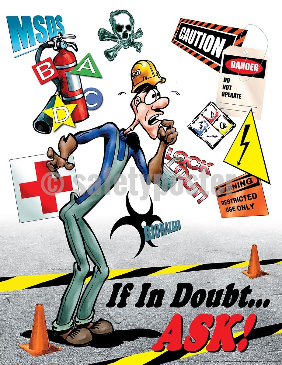 If In Doubt Ask - Safety Poster