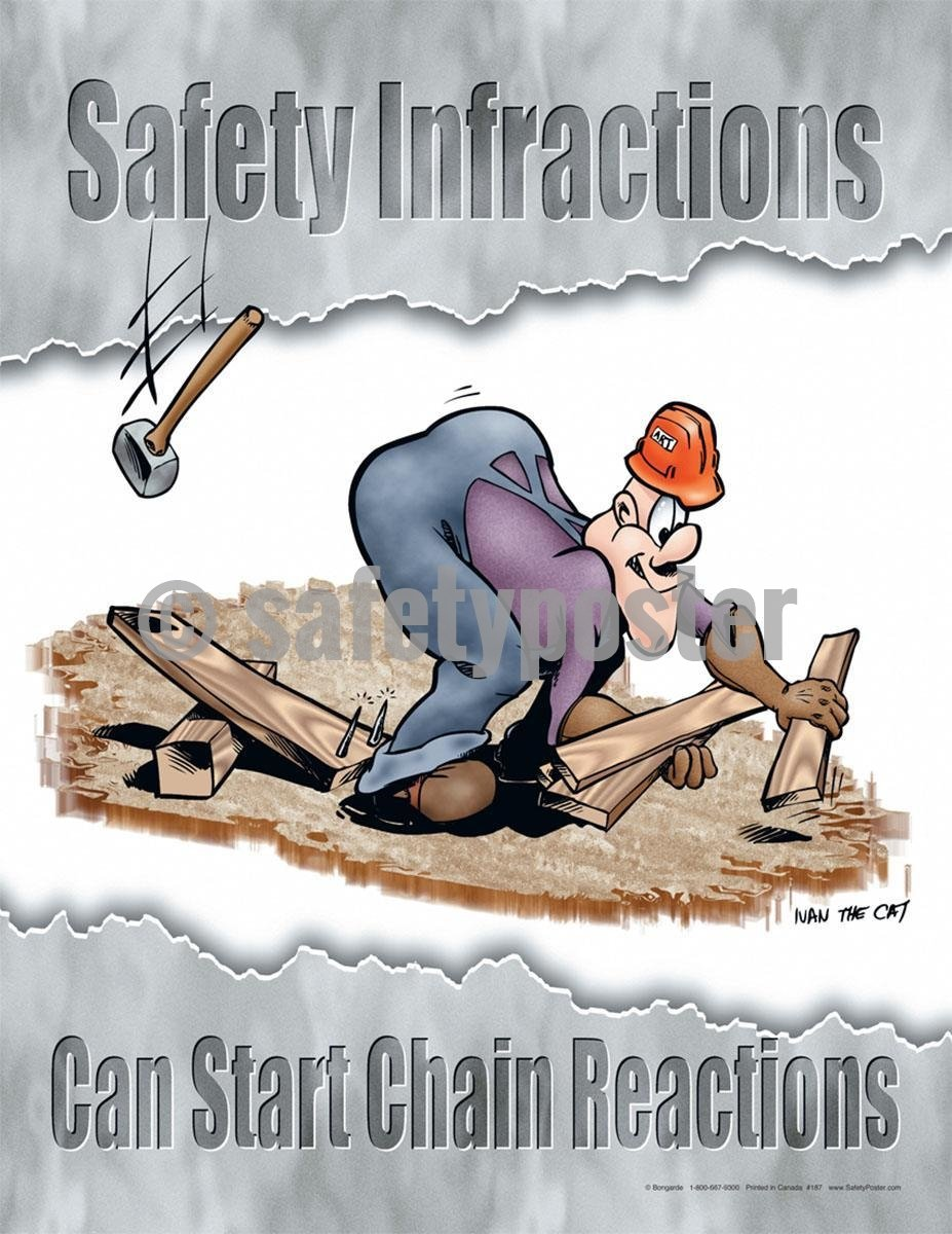 Safety Poster - Safety Infractions Can Start Chain Reactions - safetyposter.com