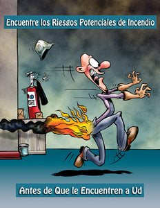 Find Potential Fire Hazards Before They Find You! - Spanish Safety Poster