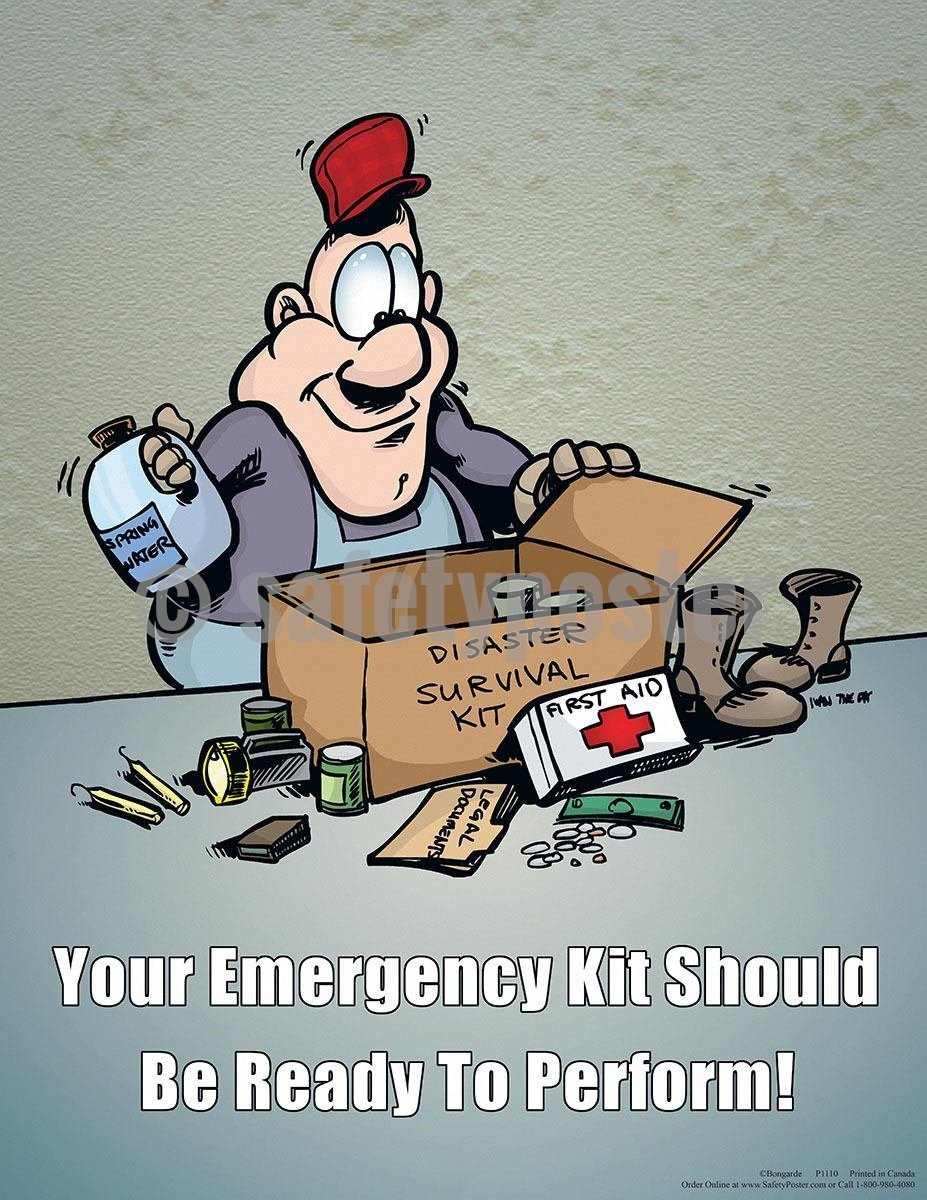 Safety Poster - Emergency Kit - safetyposter.com