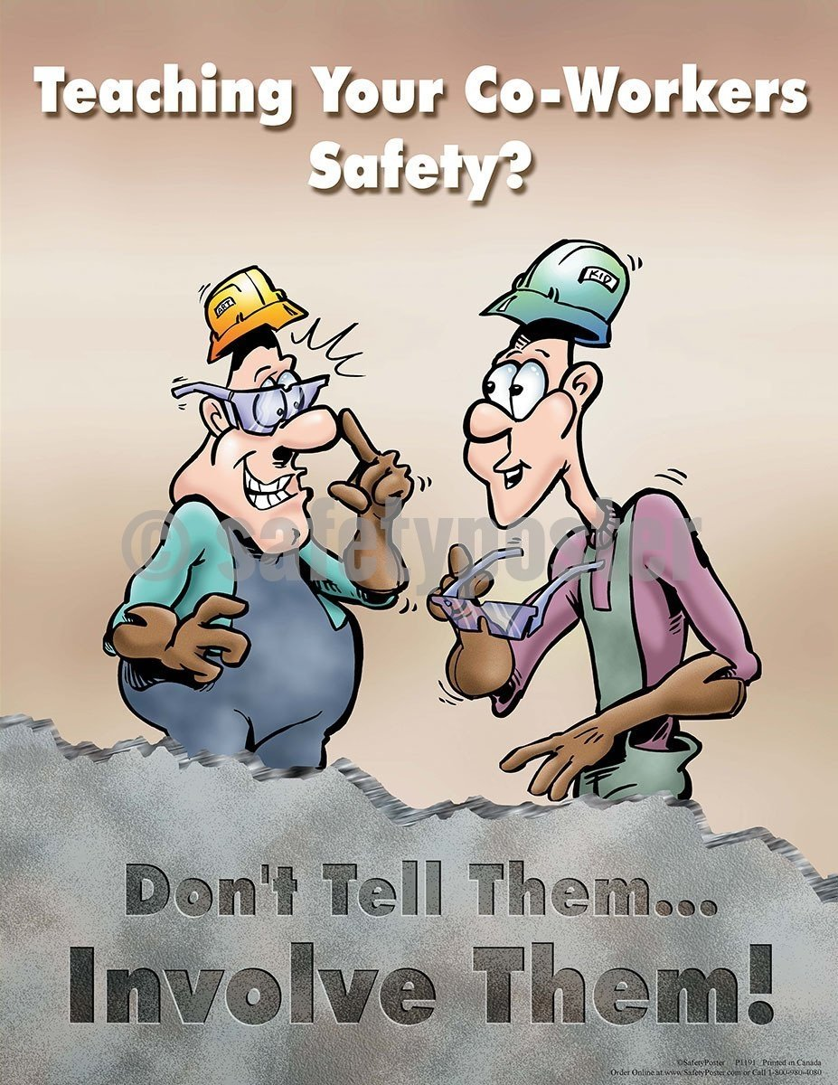 Safety Poster - Teaching Your Co-Workers Safety - safetyposter.com