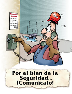 For Safety's Sake Communicate! - Spanish Safety Poster
