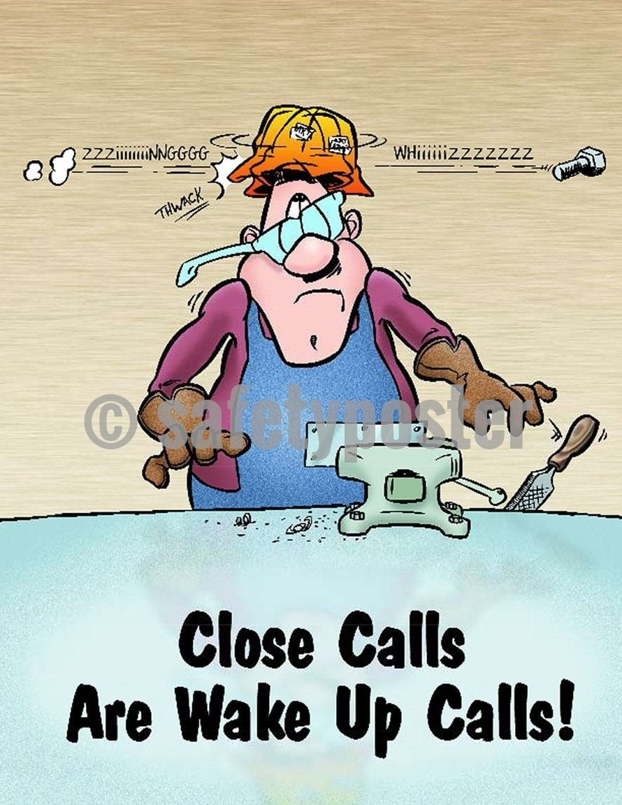 Safety Poster - Close Calls Are Wake Up Calls! - safetyposter.com