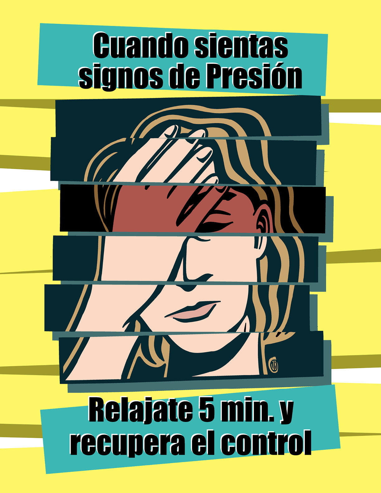 When Signs Of Stress Are Taking A Toll - Spanish Safety Poster