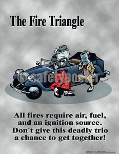 Safety Poster - The Fire Triangle - safetyposter.com