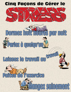 Five Ways To Handle Stress - French Safety Poster