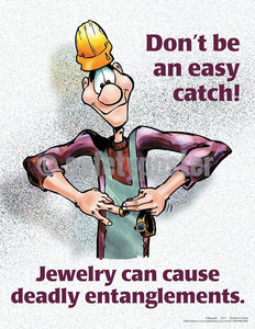 Safety Poster - Don't Be An Easy Catch - safetyposter.com