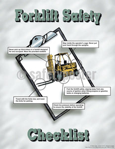 Safety Poster - Forklift Safety Checklist - safetyposter.com