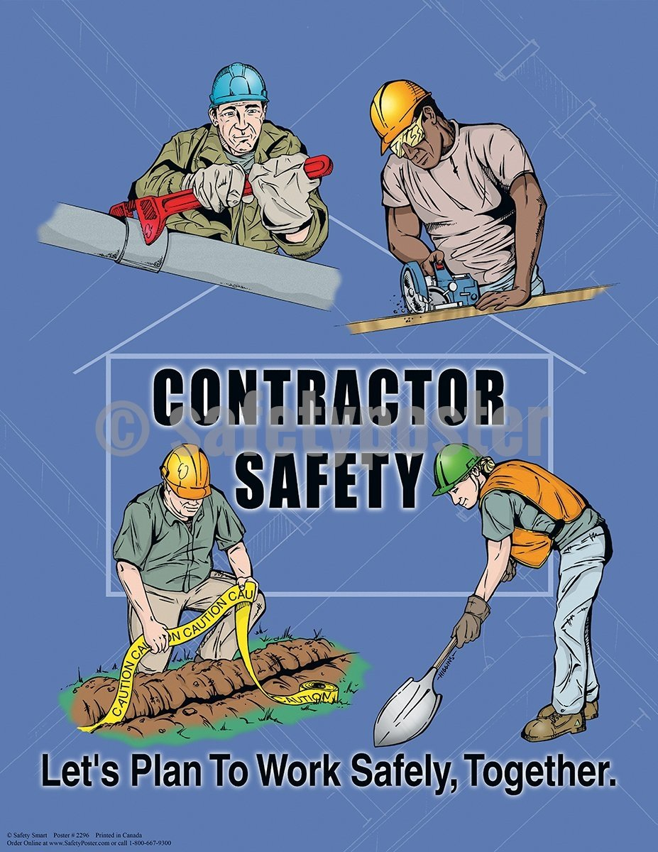 Contractor Safety - Poster Cartoon Posters